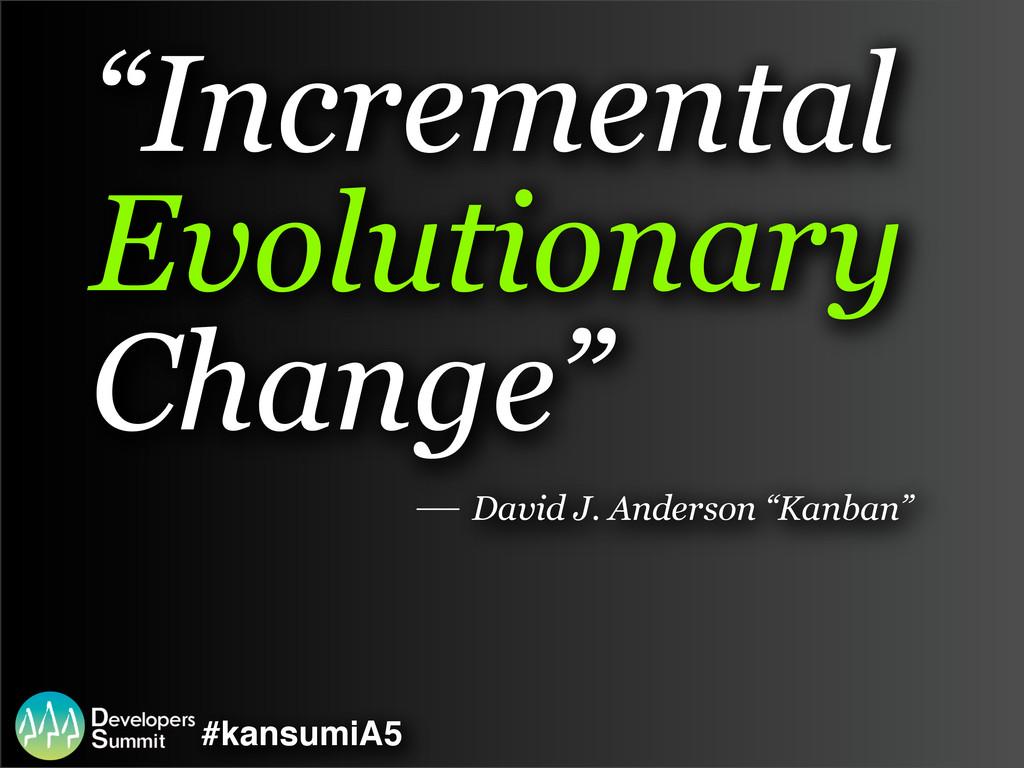 "#kansumiA5 ""Incremental Evolutionary Change"" Da..."