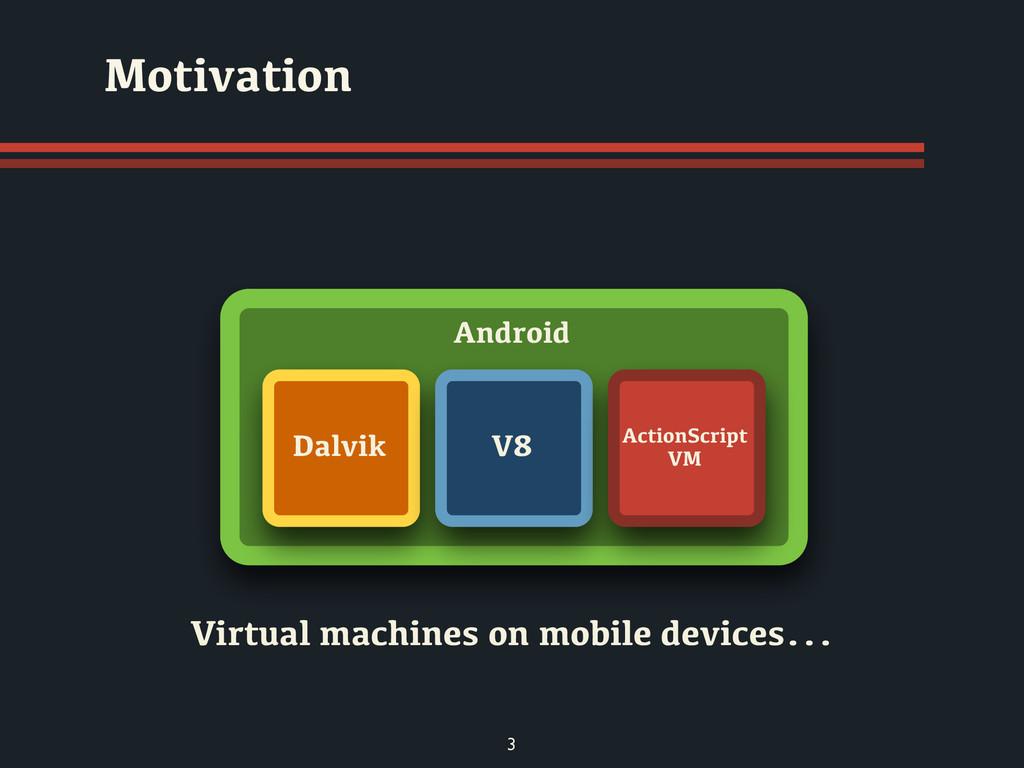 Virtual machines on mobile devices... Motivatio...