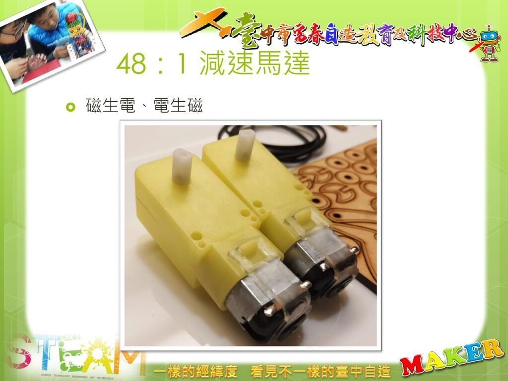 48:1 減速馬達  磁生電、電生磁
