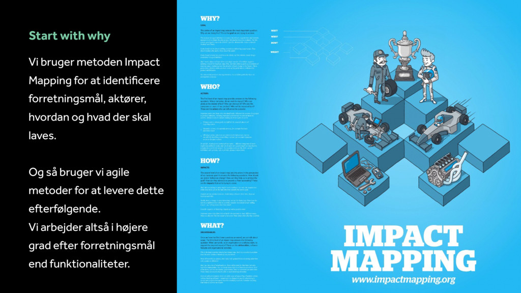 Start with why Vi bruger metoden Impact Mapping...