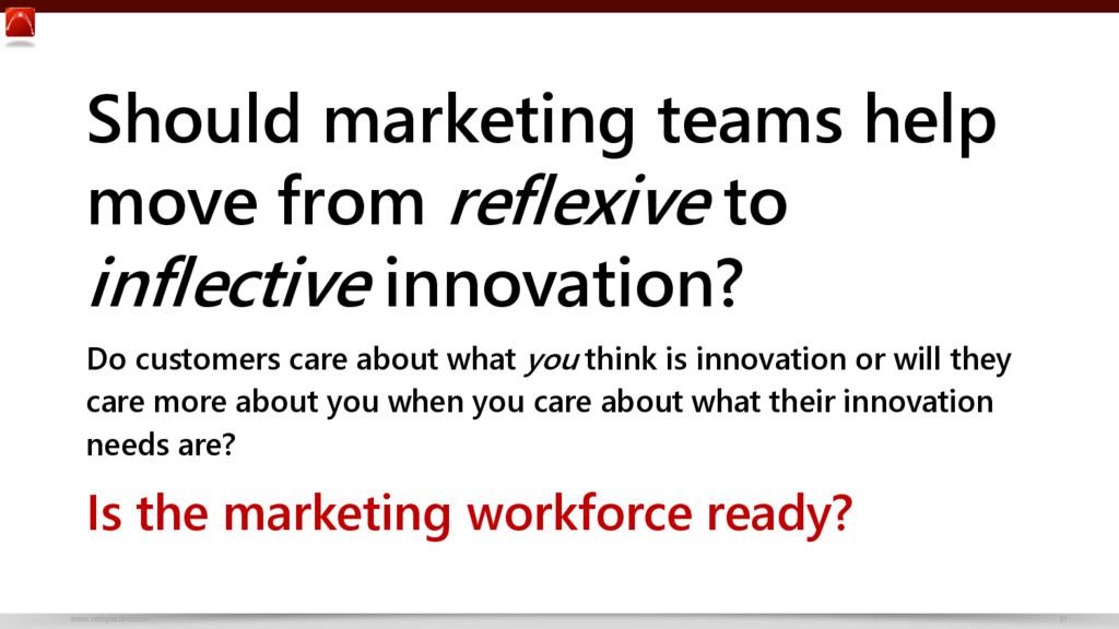www.netspective.com 31 Should marketing teams h...