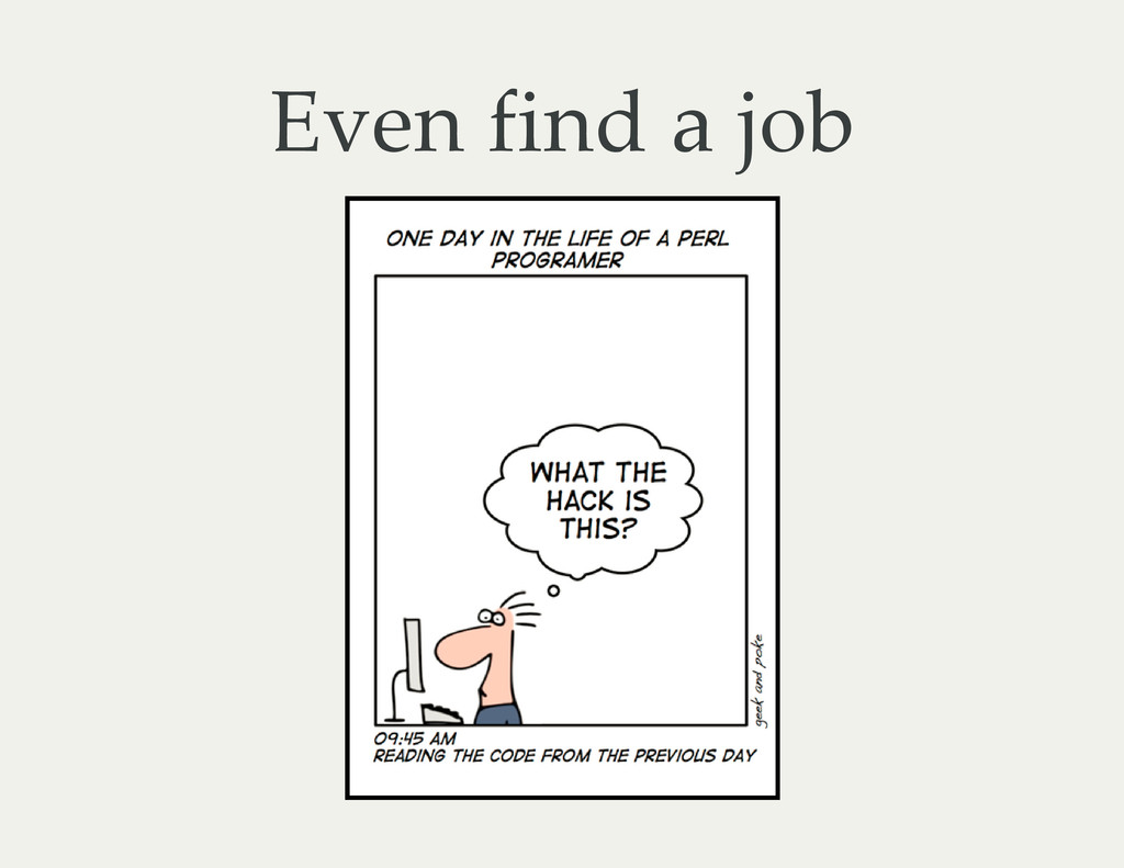 Even find a job