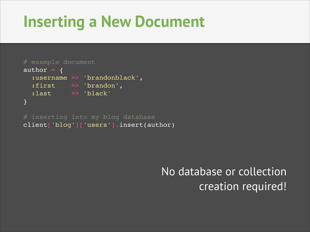 Inserting a New Document # example document! au...