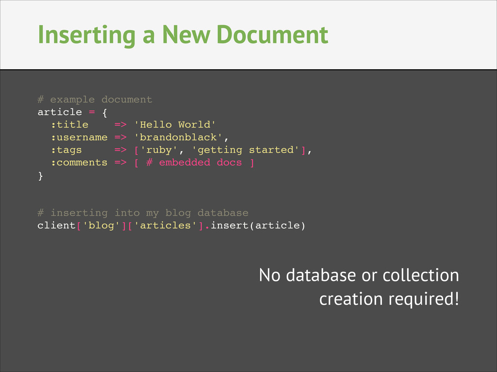Inserting a New Document # example document! ar...