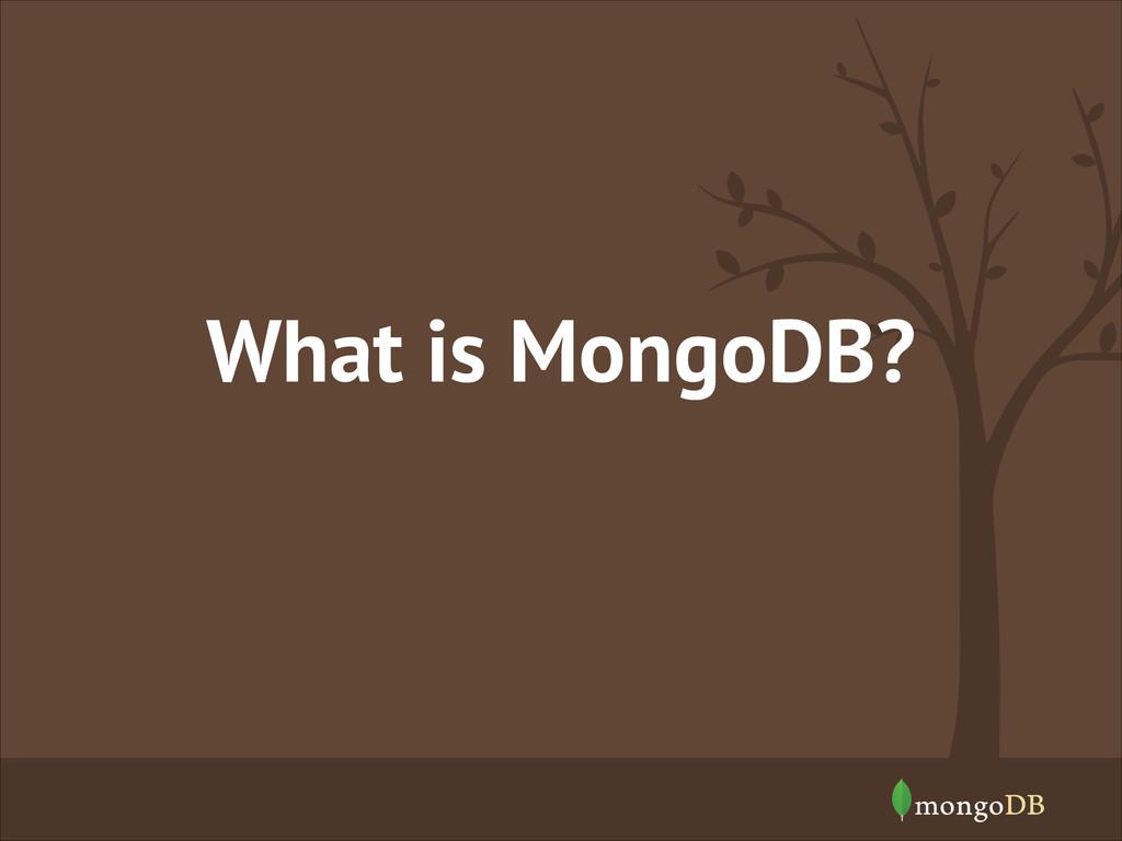 What is MongoDB?