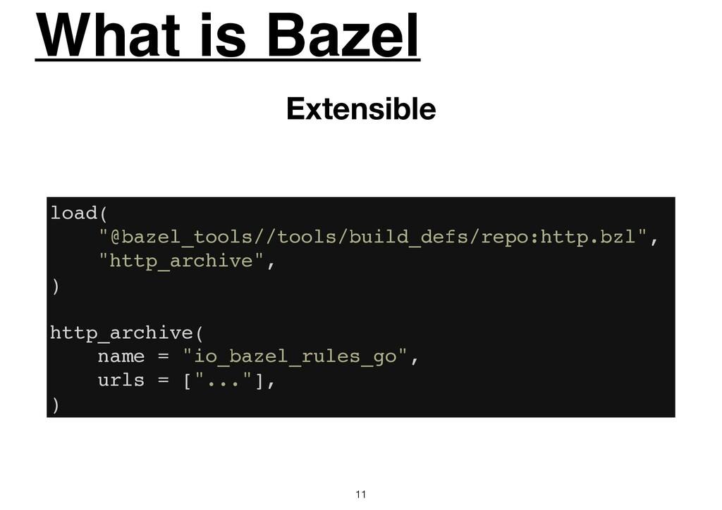 "What is Bazel 11 Extensible load( ""@bazel_tools..."