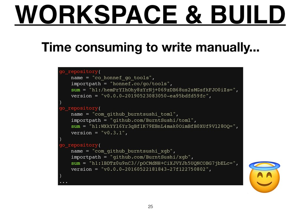 """WORKSPACE & BUILD 25  go_repository( name = """"co..."""