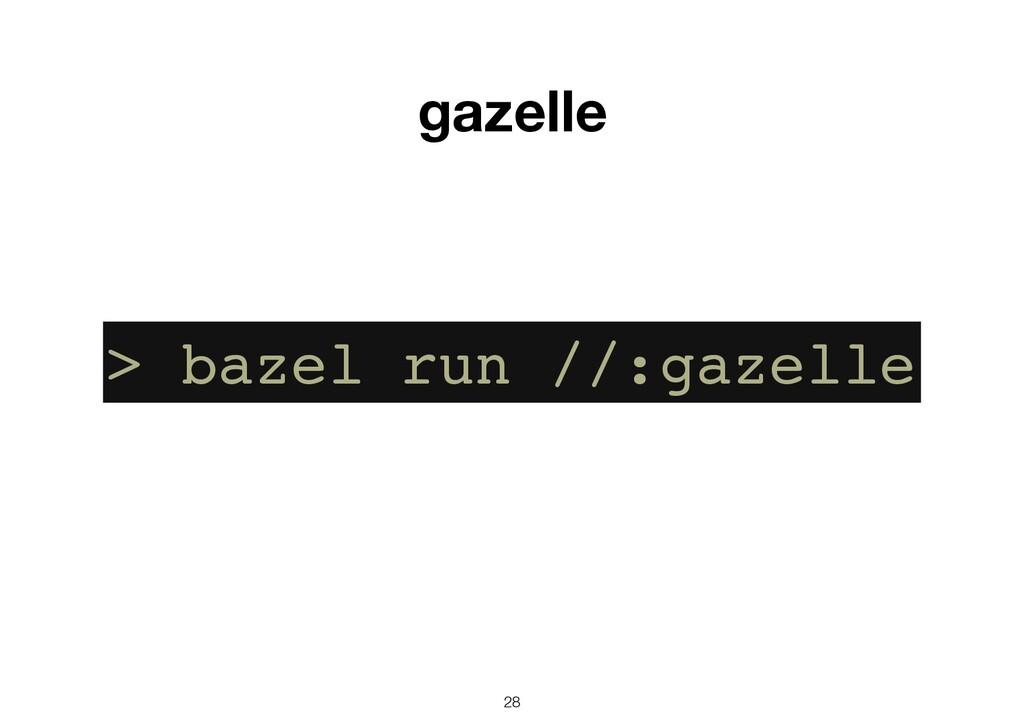 28 gazelle > bazel run //:gazelle