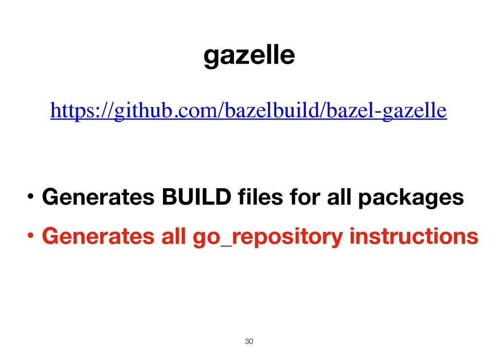30 https://github.com/bazelbuild/bazel-gazelle ...