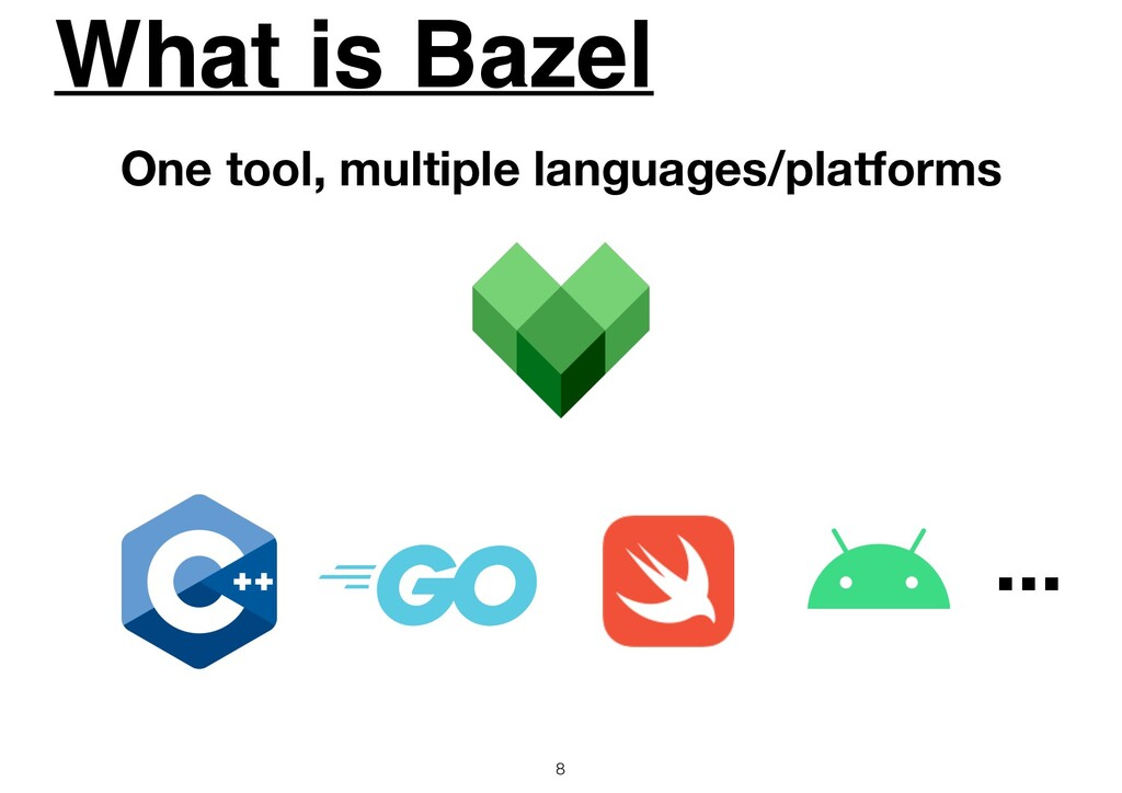 What is Bazel 8 One tool, multiple languages/pl...
