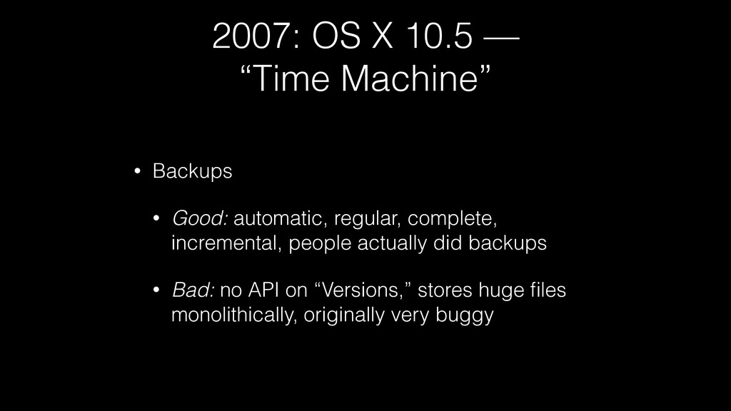 "2007: OS X 10.5 — ""Time Machine"" • Backups • Go..."