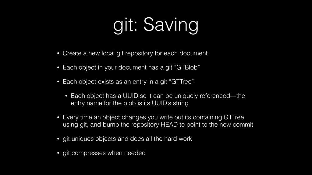 git: Saving • Create a new local git repository...