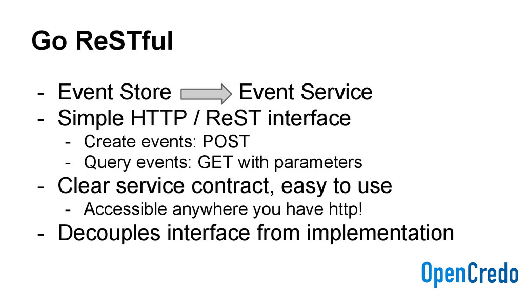 Go ReSTful - Event Store Event Service - Simple...