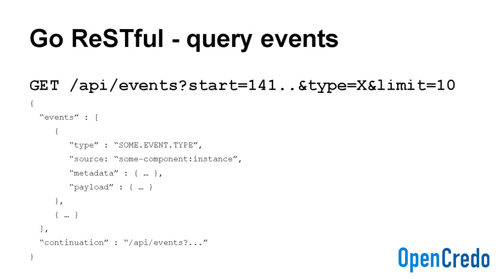 Go ReSTful - query events GET /api/events?start...