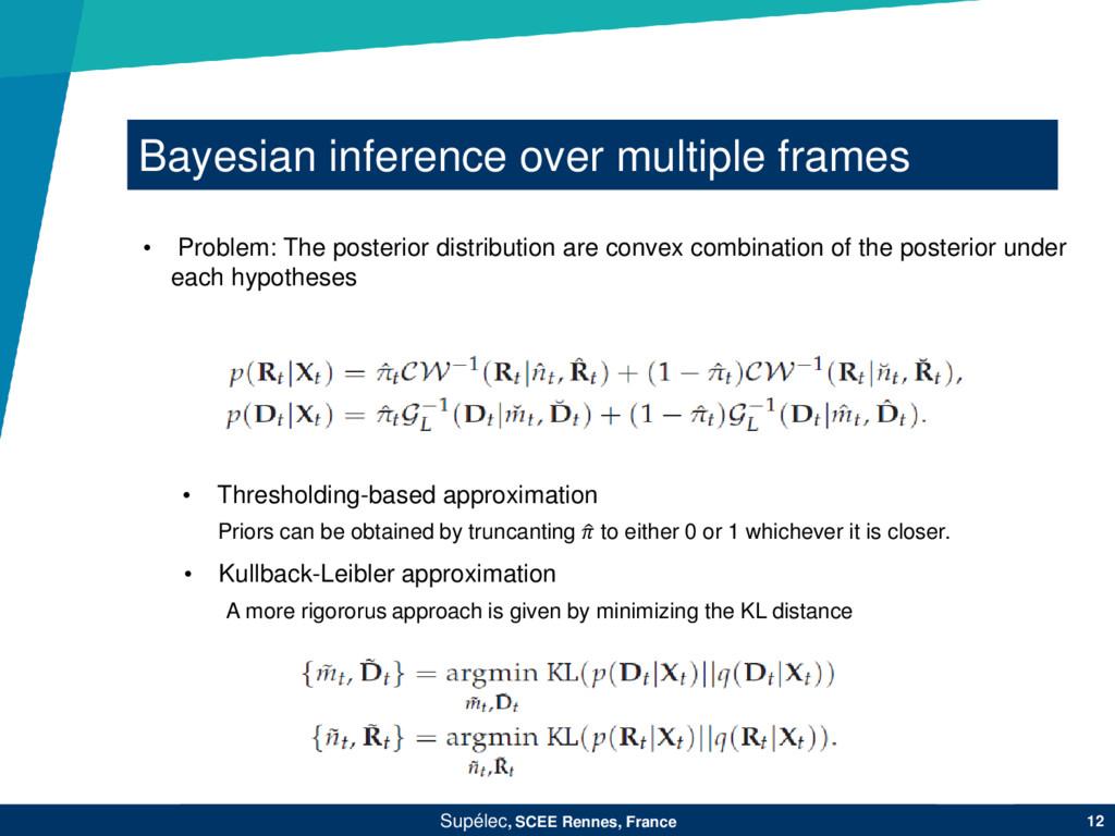 Bayesian inference over multiple frames Supélec...