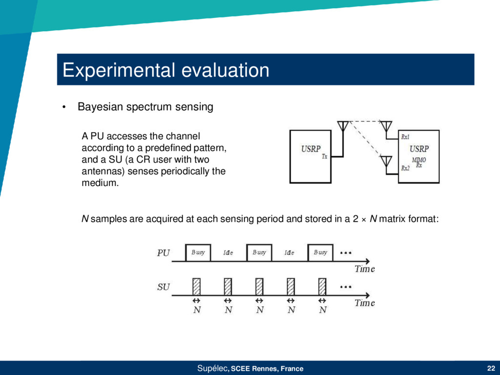 Experimental evaluation Supélec, SCEE Rennes, F...