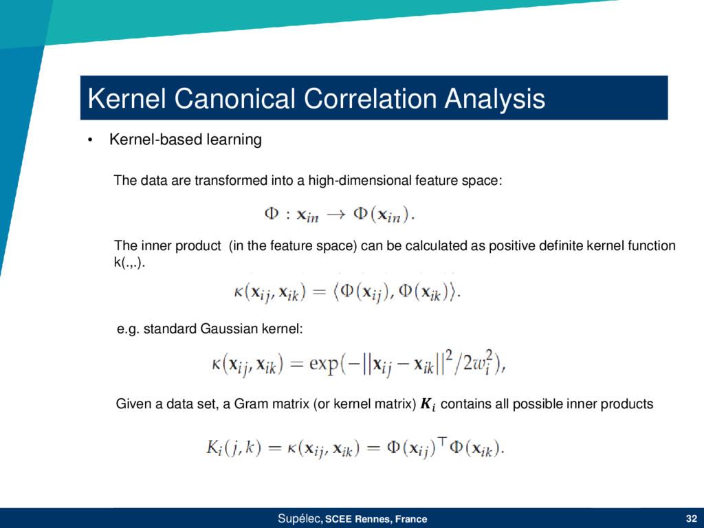 Kernel Canonical Correlation Analysis Supélec, ...