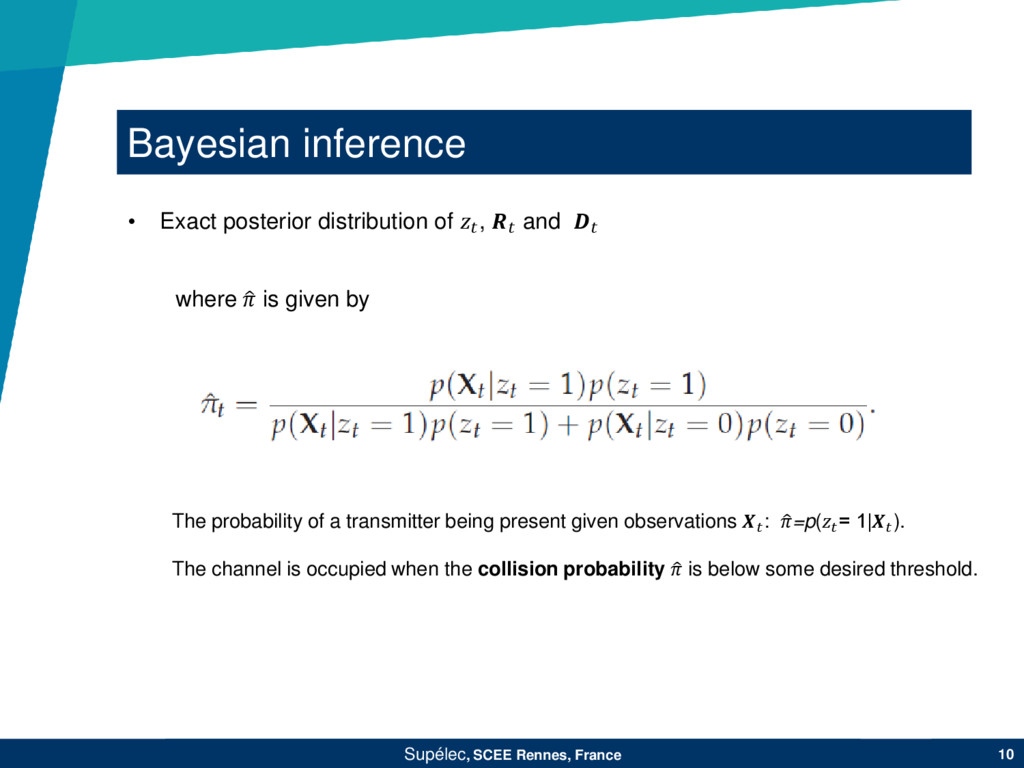 Bayesian inference Supélec, SCEE Rennes, France...