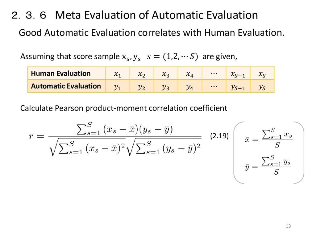 2.3.6 Meta Evaluation of Automatic Evaluation G...