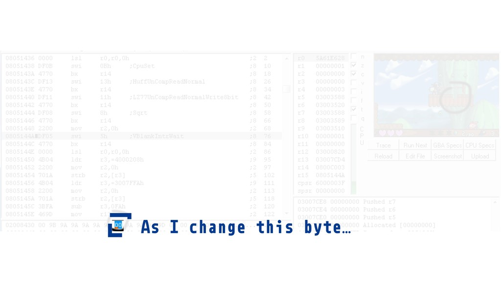 As I change this byte…