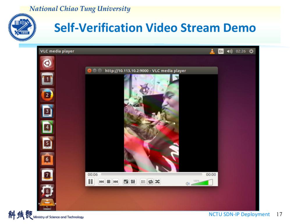 Self-Verification Video Stream Demo NCTU SDN-IP...