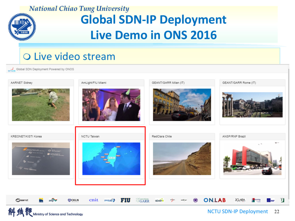 Global SDN-IP Deployment Live Demo in ONS 2016 ...