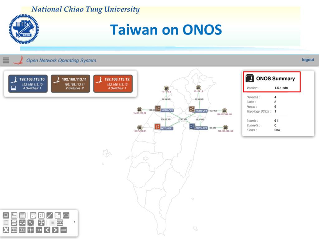 Taiwan on ONOS NCTU SDN-IP Deployment 25