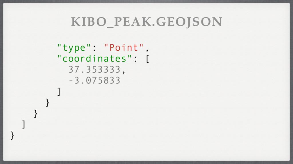 """type"": ""Point"", ""coordinates"": [ 37.353333, -3..."