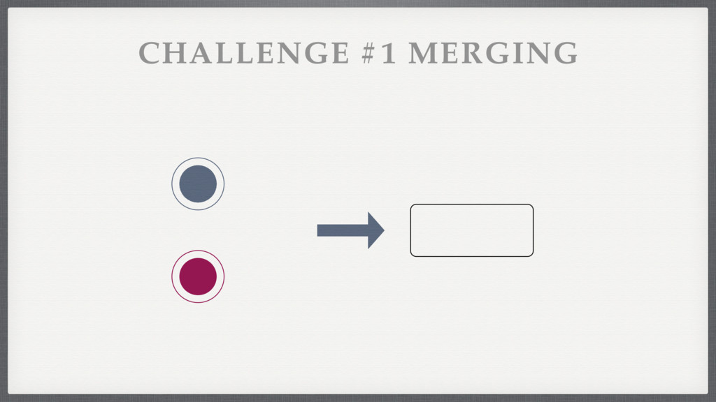 CHALLENGE #1 MERGING
