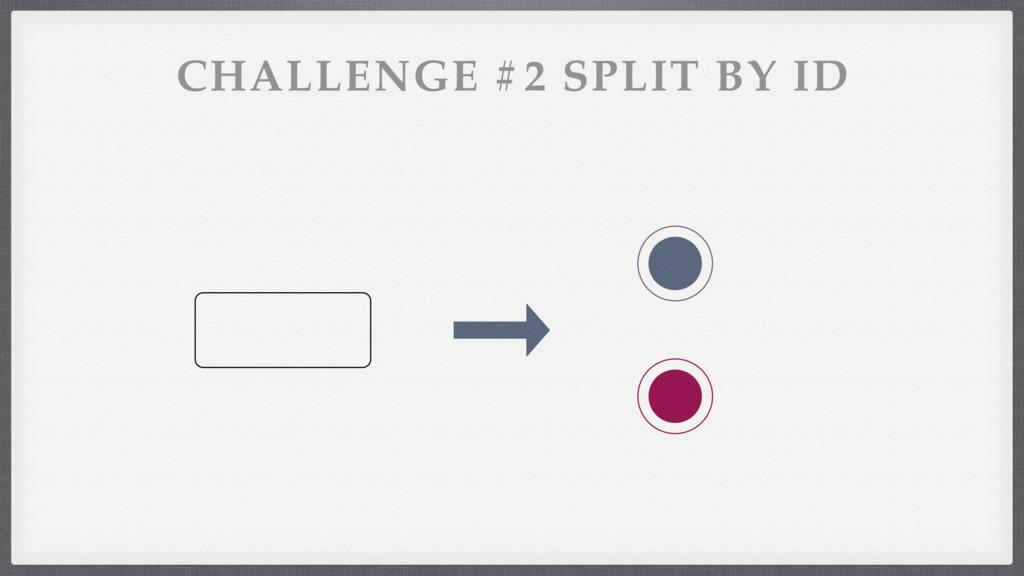 CHALLENGE #2 SPLIT BY ID