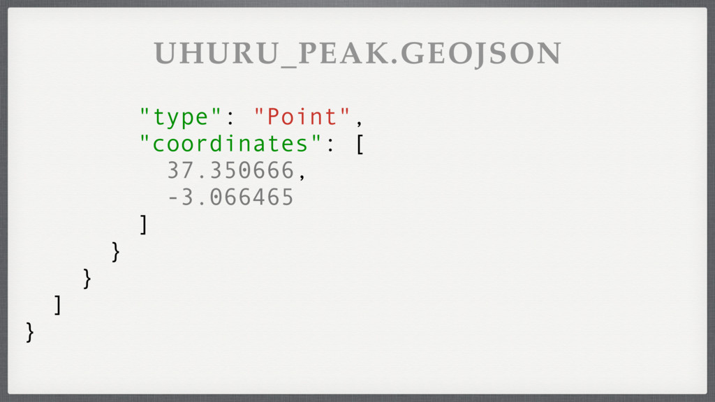 """type"": ""Point"", ""coordinates"": [ 37.350666, -3..."