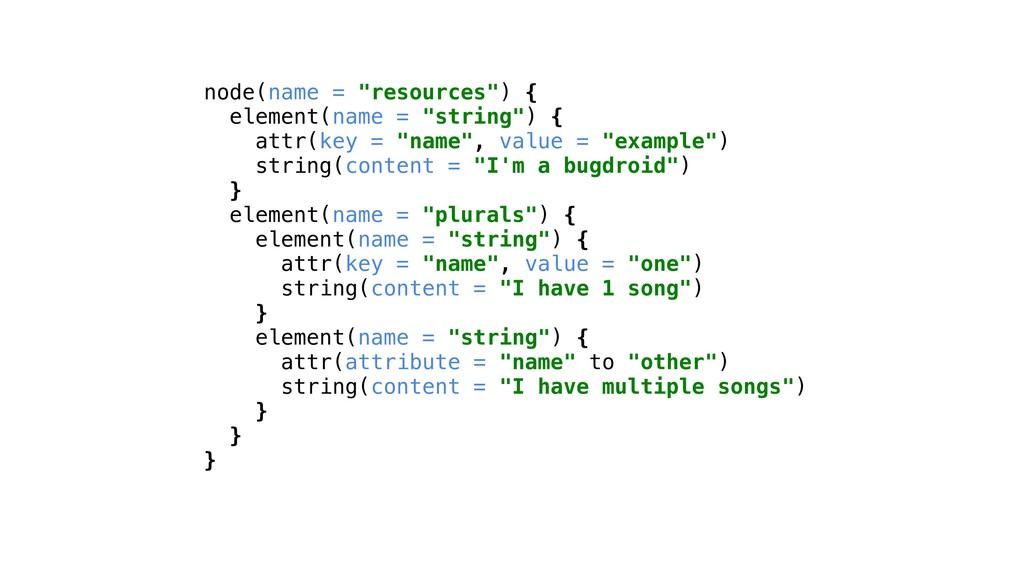 "node(name = ""resources"") { element(name = ""stri..."
