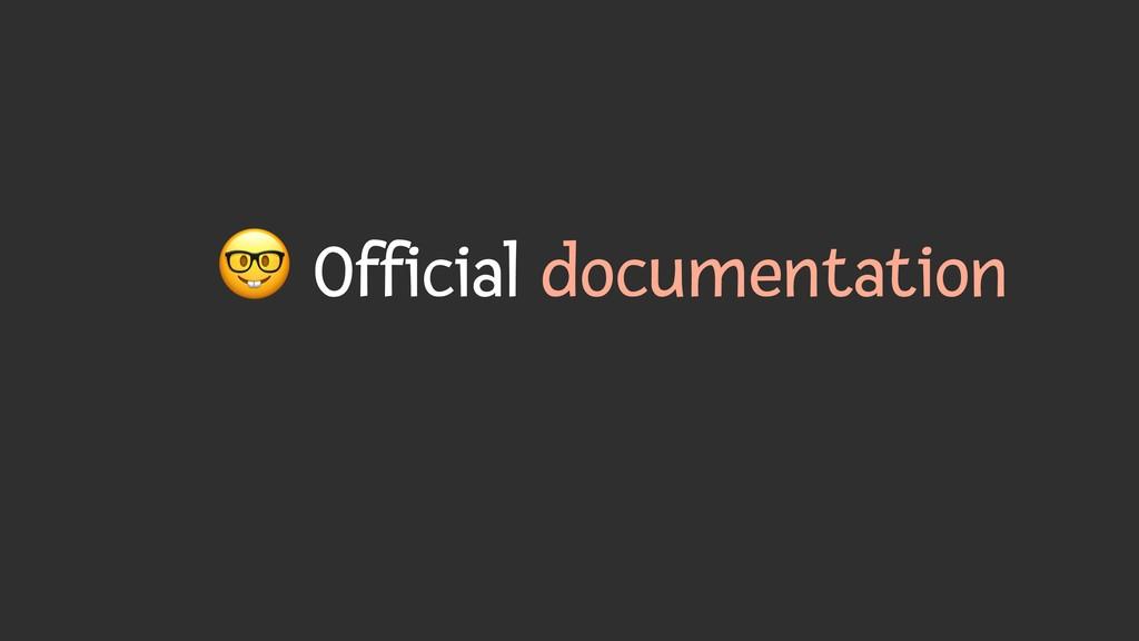) Official documentation