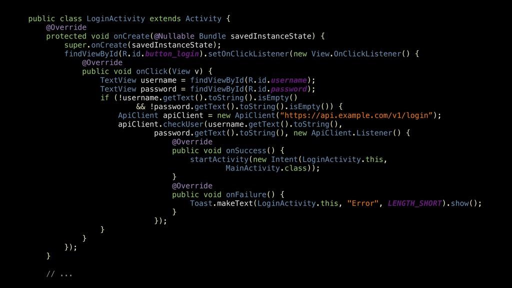 public class LoginActivity extends Activity { @...