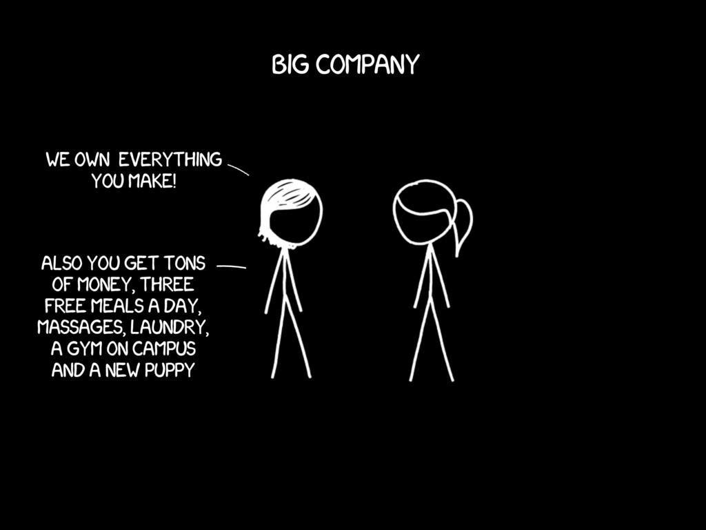 We own everything You make! Big company Also yo...