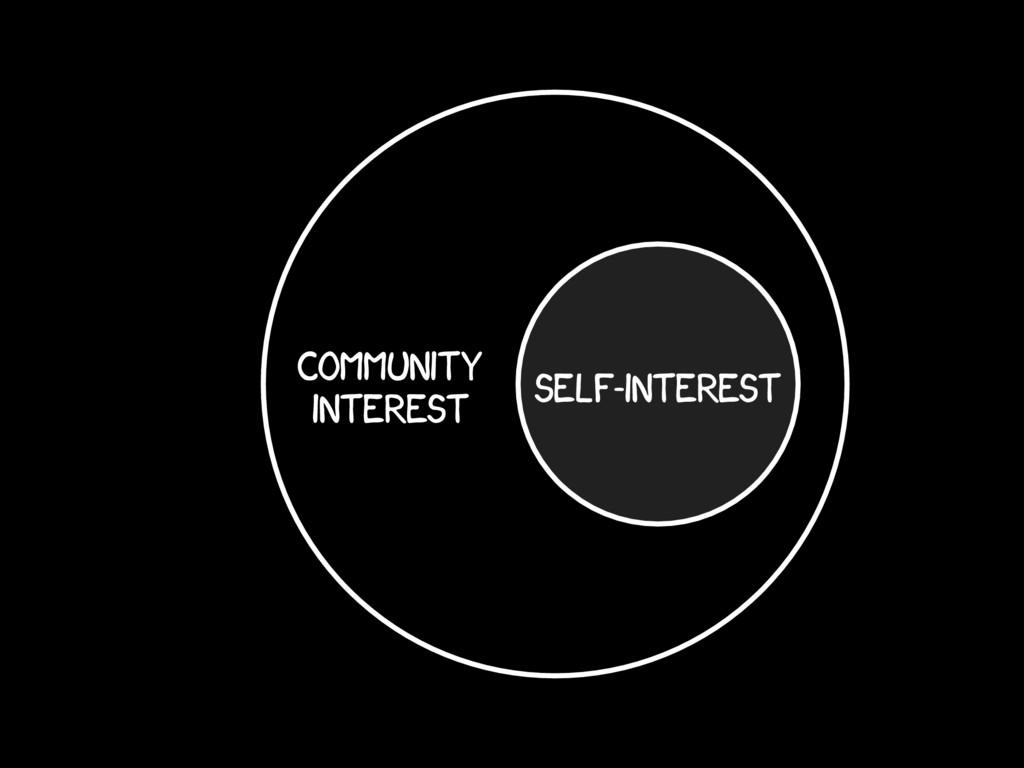 self-interest community interest