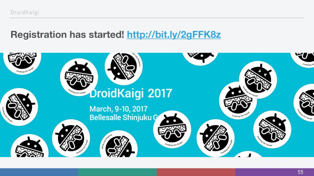 DroidKaigi Registration has started! http://bit...