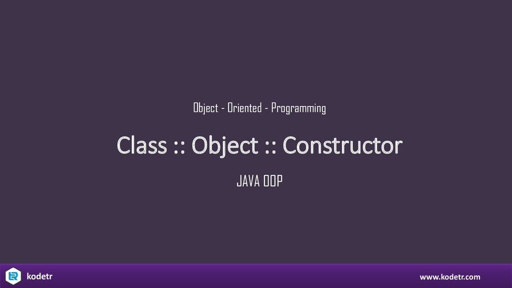 Class :: Object :: Constructor Object - Oriente...