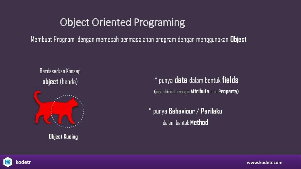 Object Oriented Programing Membuat Program deng...