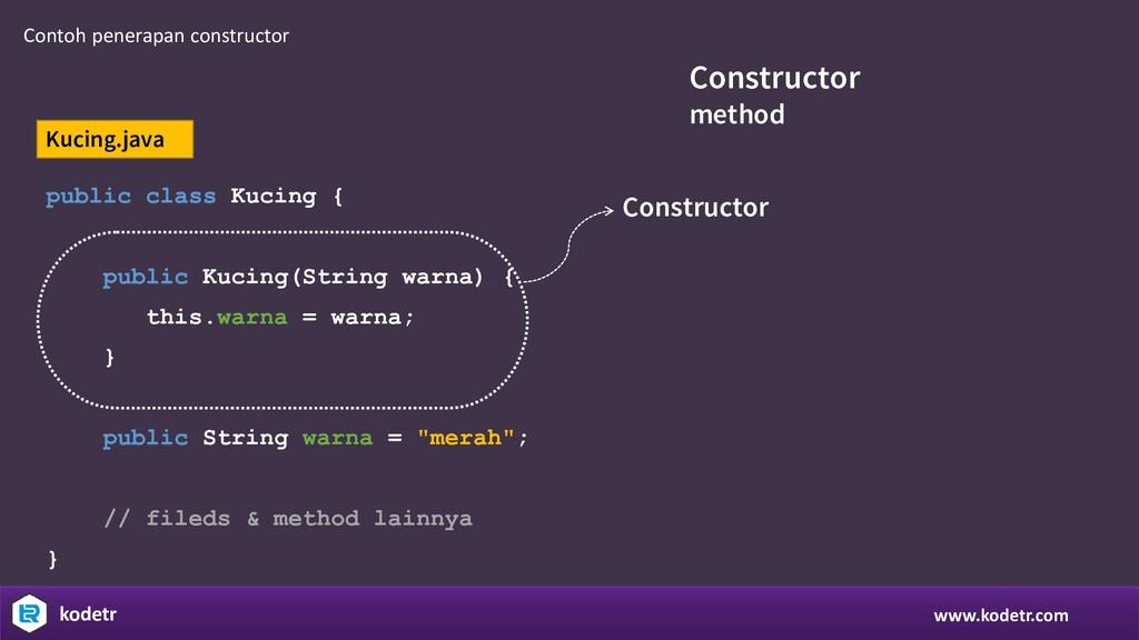 www.kodetr.com kodetr Constructor method public...