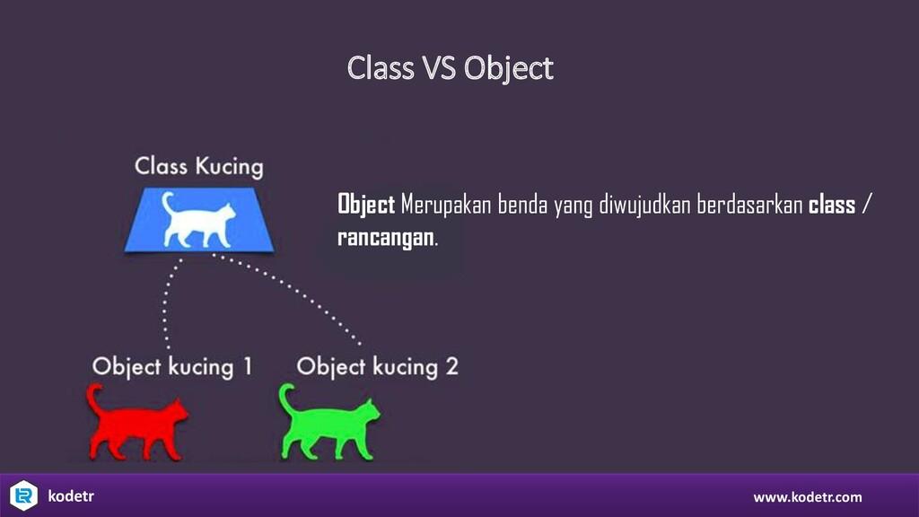 Class VS Object www.kodetr.com kodetr Object Me...