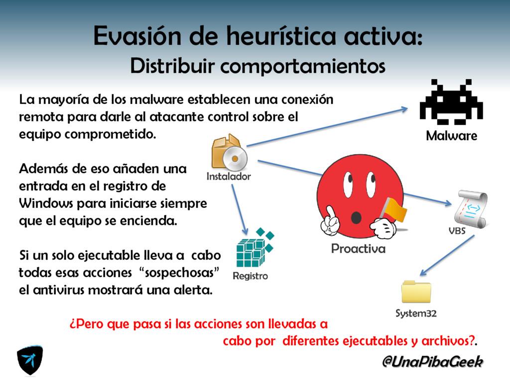 @UnaPibaGeek Evasión de heurística activa: Dist...