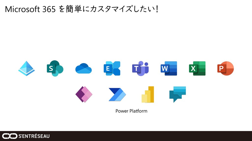 Microsoft 365 を簡単にカスタマイズしたい! Power Platform