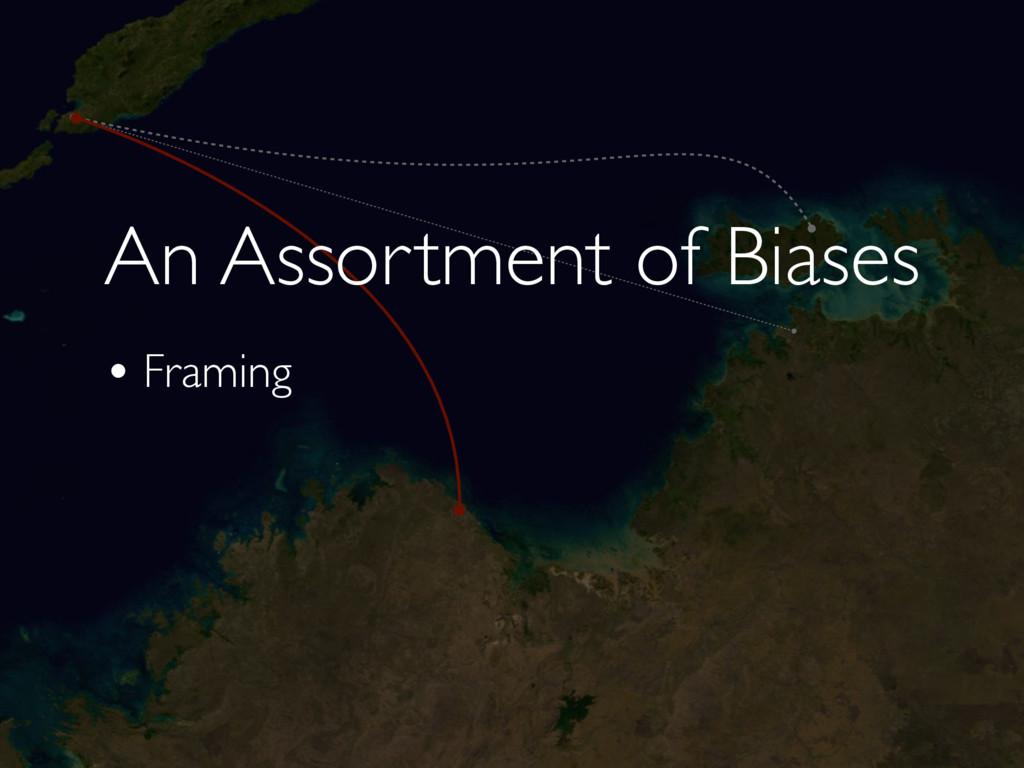 An Assortment of Biases • Framing