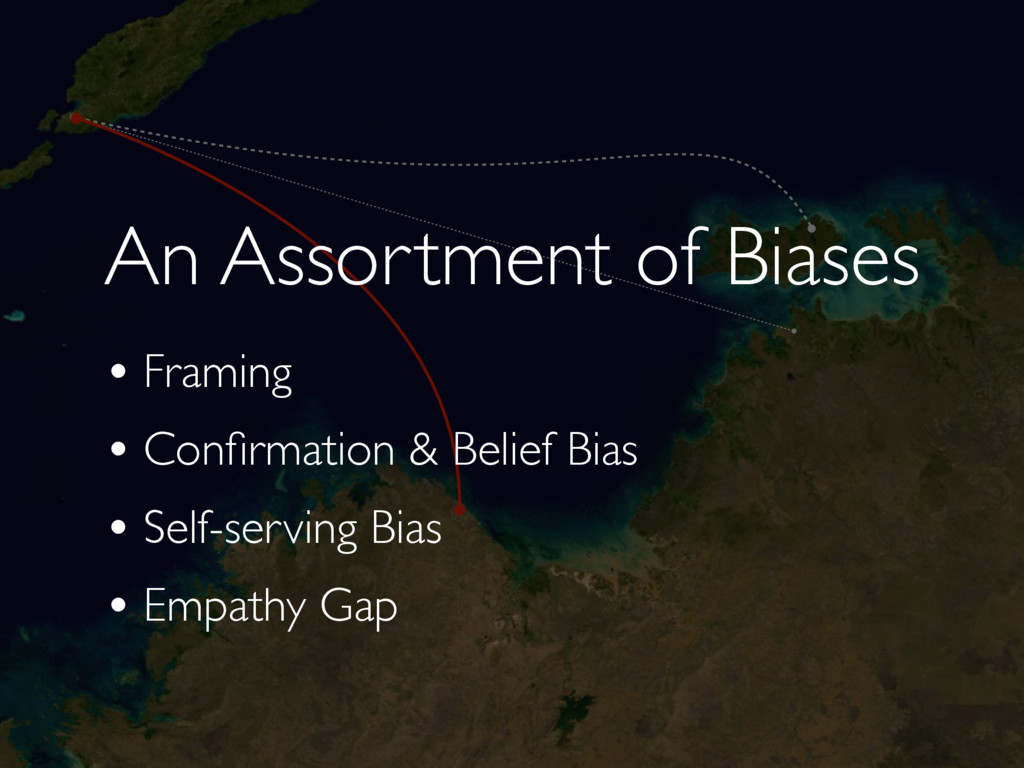 An Assortment of Biases • Framing • Confirmation...