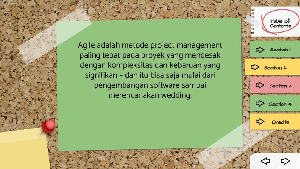 Agile adalah metode project management paling t...
