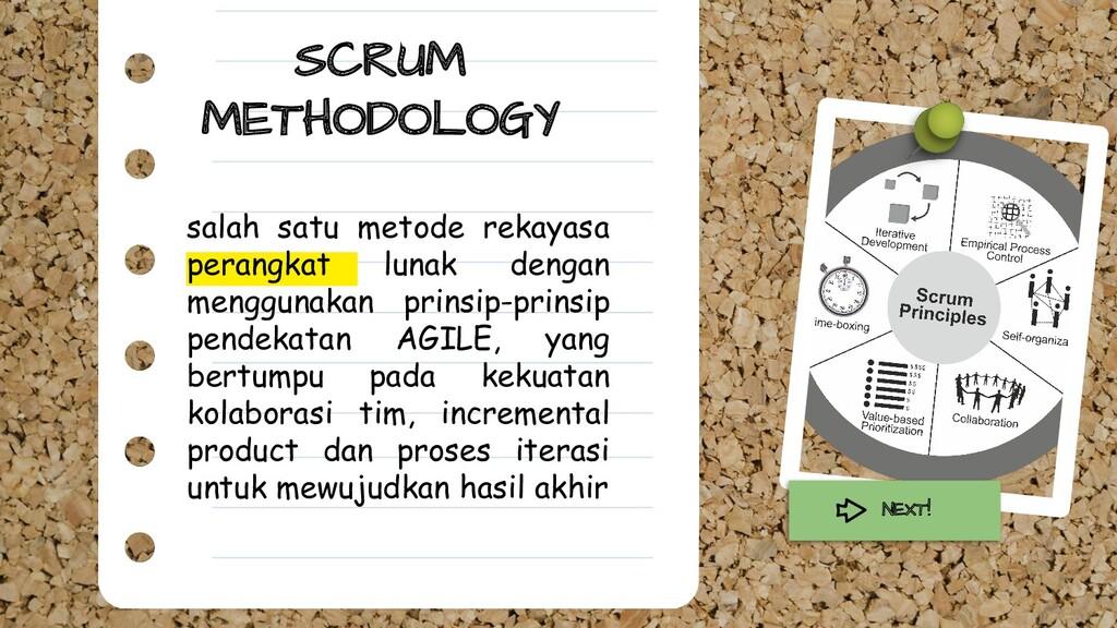 SCRUM METHODOLOGY salah satu metode rekayasa pe...