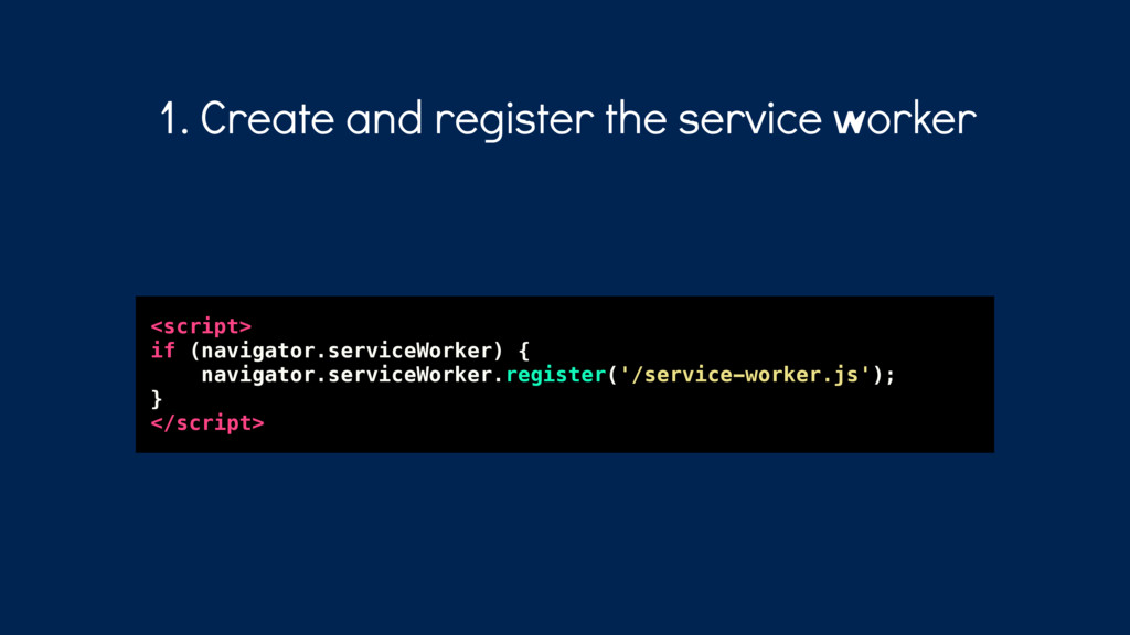 <script> if (navigator.serviceWorker) { navigat...