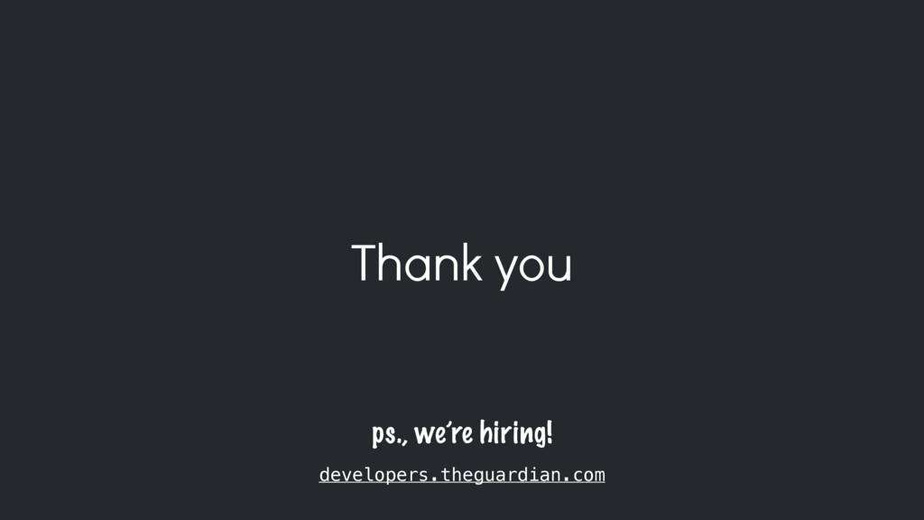 Thank you ps., we're hiring! developers.theguar...