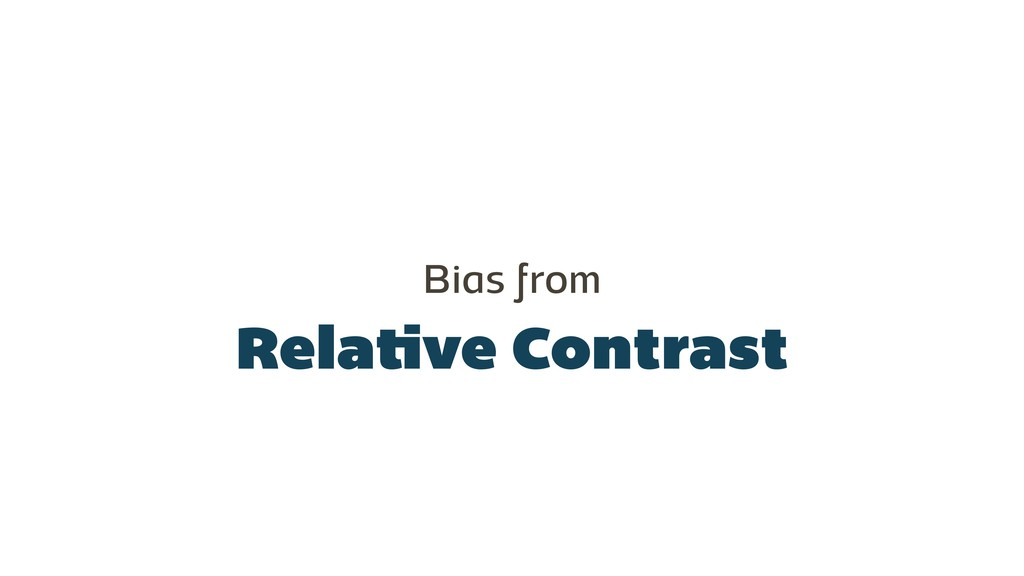 Relative Contrast Bias from